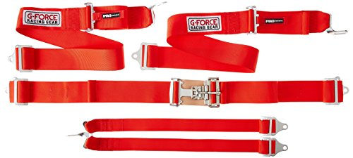 G-force Harness - G-Force 6001RD Red 6-Point Pull-Down Latch and Link Individual Shoulder Harness Set