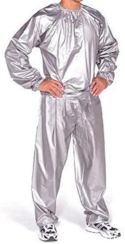 Good Heavy Duty Sweat Sauna Suit Gym Fitness Exercise Fat Burn Weight Loss PVC