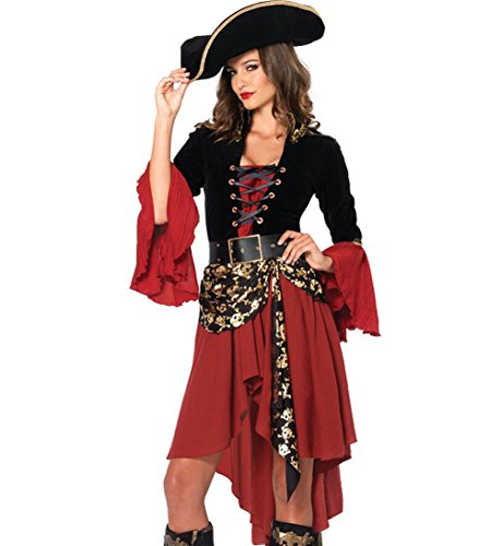 Eternatastic Women's Halloween Costume Sexy Halloween Ladies Pirate Costume M