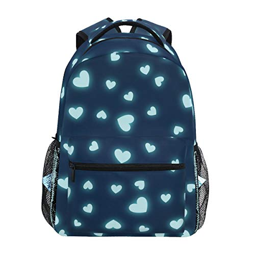 ILEEY Hearts Page Webpage Website Blog School Backpack Computer Book Bag Travel Hiking Camping Casual Daypack for Girls Boys Men and Women