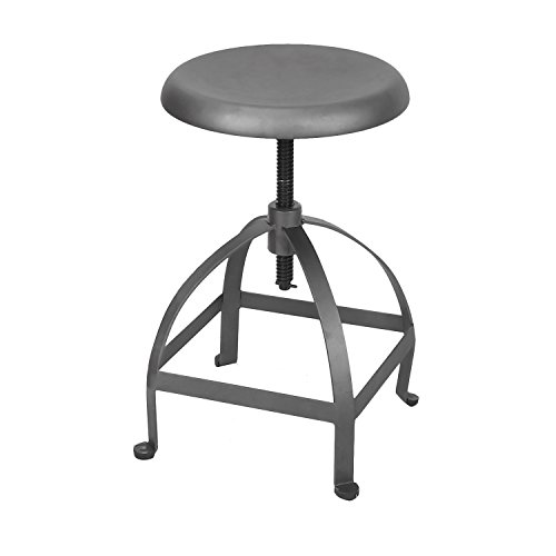Industrial Chic Retro Style Swivel Adjustable Height Barstool Bar Stool, Metal Steel with Anti-rust Stainless Coating Round Top, for Lounge Cafe Restaurant Pub Counter Kitchen Island