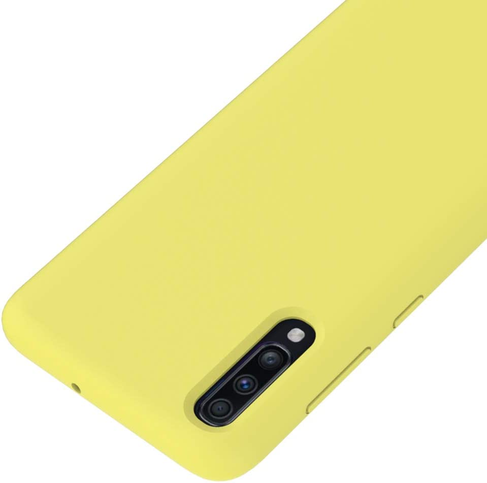 Amarillo Funda L/íquido de Silicona Gel TPU Flexible CoverTpu Funda Samsung A70 Silicona Carcasa para Samsung A70 Anti-Rasgu/ño y Resistente Protectora Tapa Caso Case Amarillo