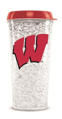 (Wisconsin Badgers Crystal Freezer Travel Tumbler)