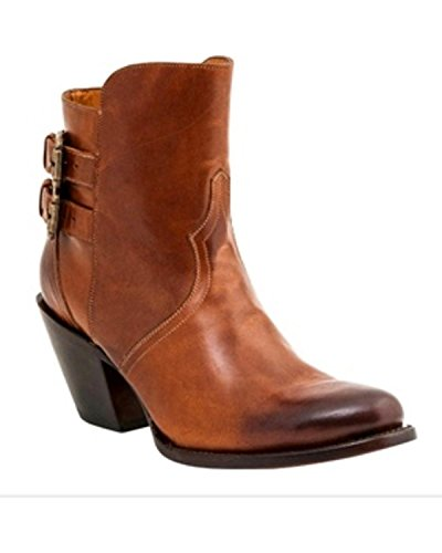 Lucchese Bootmaker Women's Catalina Ankle Bootie, Cognac, 7 B US