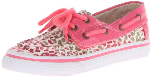 Sperry Top-Sider Bahama Boat Shoe ,Gold/Leopard,7 M US Toddl