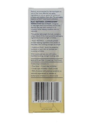 ROC by ROC Retinol Correxion Sensitive Eye Cream (Sensitive Skin) --15ml/0.5oz for WOMEN ---(Package Of 6)