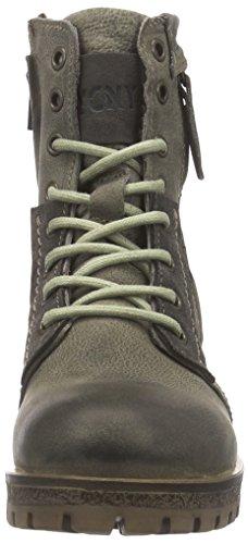 Yellow Cab WARRIOR Damen Biker Boots Grau (Moss)