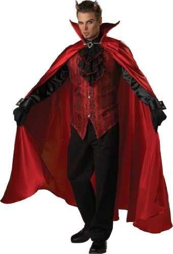 Devil Costume For Men - InCharacter Costumes Men's Handsome Devil Costume, Red/Black, X-Large