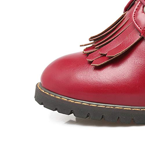 Donna Mns03096 Eu 1to9 Sandali Rosso 35 red Con Zeppa AangnqP