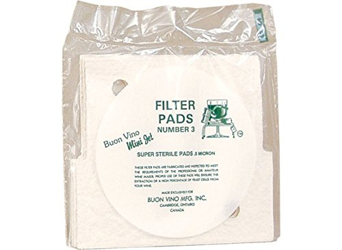 Buon Vino Mini Jet Filter Pads (3) - Sterile
