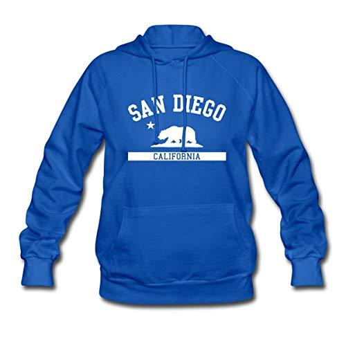 (Spreadshirt San Diego California State Women's Hoodie, S, Royal Blue)