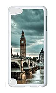 iPod 5 Case,VUTTOO Cover With Photo: Westminster Bridge For iPod Touch 5 - PC White Hard Case