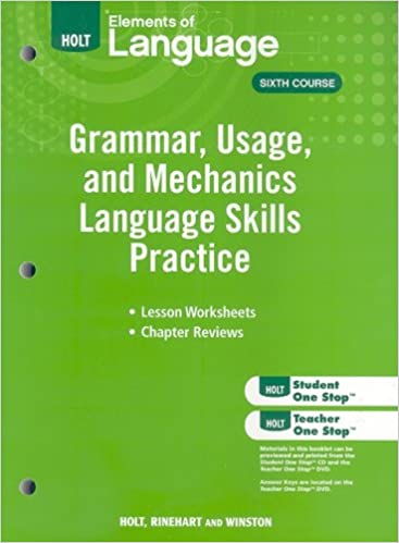 Amazon.com: Elements of Language: Grammar Usage and Mechanics ...