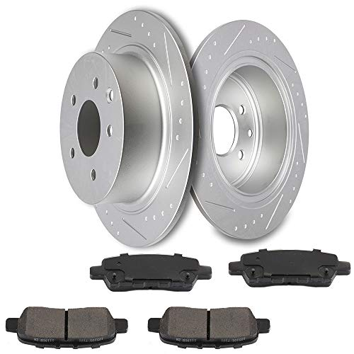 - cciyu Rear Premium Brake Rotors + Ceramic Brake Pads fit for 2002-2017 Nissan Altima,2011-2017 Nissan Juke,2004-2008 Nissan Maxima,2007-2017 Nissan Sentra