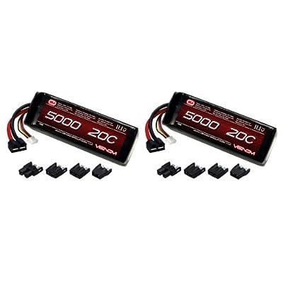 Venom 20C 3S 5000mAh 11.1V LiPo Battery with Universal Plug (EC3/Deans/Traxxas/Tamiya) x2 Packs