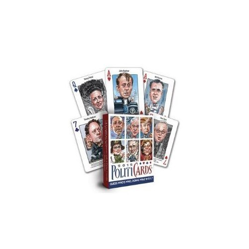 Politicards 2012 Political Playing Cards Grün by Pgd Publishing (English Manual)