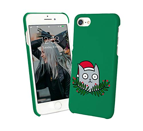 - Cat Christmas Kitty Santa Claus_010168 Protective Phone Mobile Smartphone Case Cover Hard Plastic for Huawei P9l Lite Funny Gift Christmas