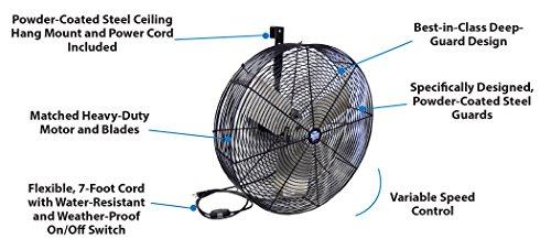 Schaefer F5-24 Fan, 24 inch, Black