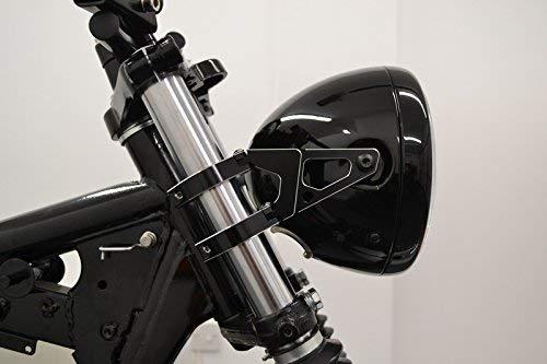 Lavorate Al CNC Nero Motocicletta Supporti Faro per 34-35mm Forcelle