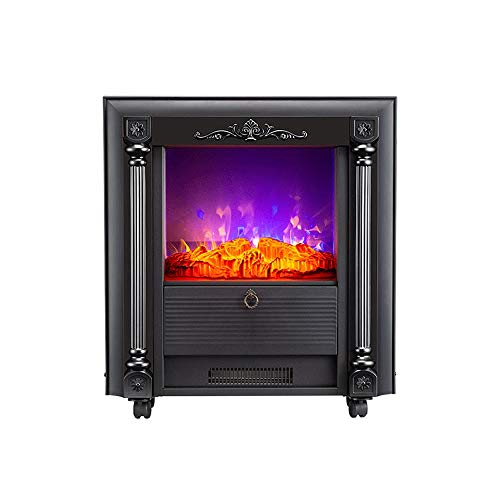 Cheap 1000/2000W Electric Fireplace Freestanding Fireplace Fireplace Stove Heater Electric Fireplace Heater with Realistic Flame Effect Overheat Protection Suitable for Living Room Bedroom Study Black Friday & Cyber Monday 2019