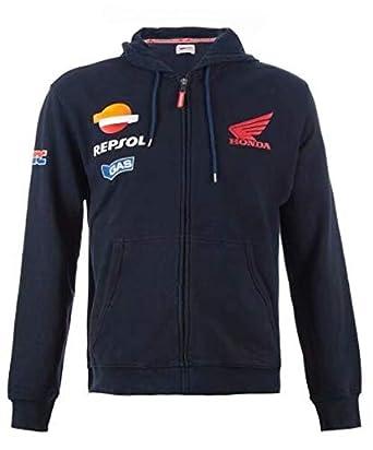 14304b00945 Amazon.com: Moto GP Motorcycle Repsol Hoodies Honda HRC Endurance Racing  Riding Zip Jacket Navy: Clothing