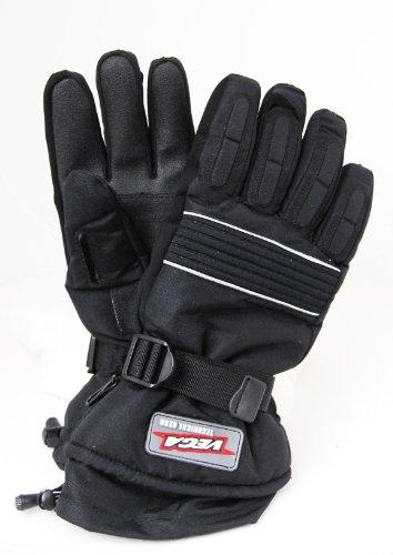 Vega Snowmobile Gloves (Black, XX-Large)