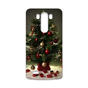 Red And White Christmas Tree Decorated With Beads Jingle Jingle Ring Very Cute LG G3 Case Cover Shell (Laser Technology)