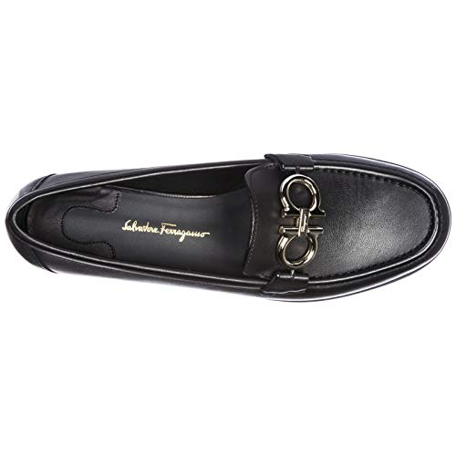 Mocassini Nero Ferragamo Salvatore Gancini Donna FwqW4aT