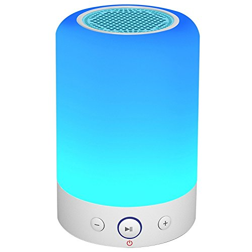 Zhicity Wireless Stereo Subwoofer Smart Touch Lamp TF Card FM Radio