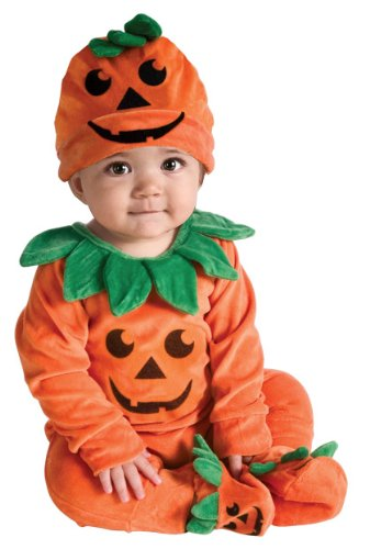 Rubies Pumpkin Infant Halloween Costume (Rubie's Costume My First Halloween Lil Pumpkin Jumper Costume, Orange, 6-12 Months)
