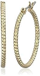 "Napier ""Classics"" Gold Tone 22mm Hoop Earrings"