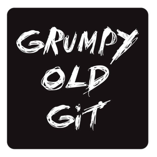 "Price comparison product image Dessous de verre Inscription ""Grumpy Old Git"