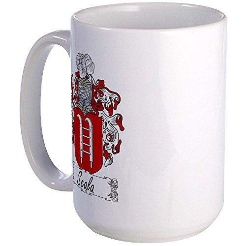 CafePress - Scala Family Crest Large Mug - Coffee Mug, Large 15 oz. White Coffee Cup - Italian Coat Of Arms