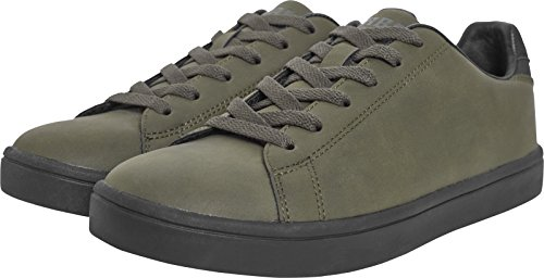 Urban Classics Summer Sneaker, Baskets Mixte Adulte, Noir, 39 EU Multicolore (Olive/Black 00868)