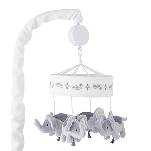 Levtex Home Baby Jungalo Grey Elephant Plush Crib Mobile