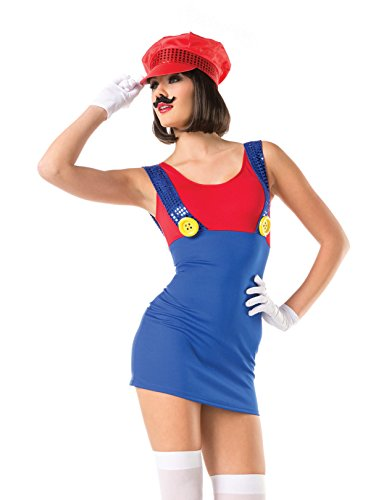 Sassy Mario Sexy Character Costume - MEDIUM/LARGE