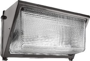 (RAB Lighting WP3H250PSQ/PC WP3 Metal Halide Wallpack with Glass Lens, ED28 Type, Aluminum, 250W Power, 25000 Lumens, 120V Button photocell, Bronze Color by RAB Lighting)