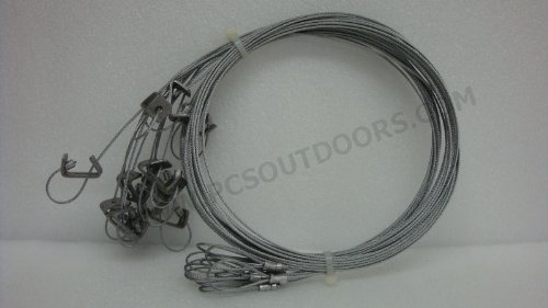 Ausable 5 ft. 3/32 Coyote & Fox Snare with Sure Lock & Looped End 10 Dozen Snares by PcsOutdoors