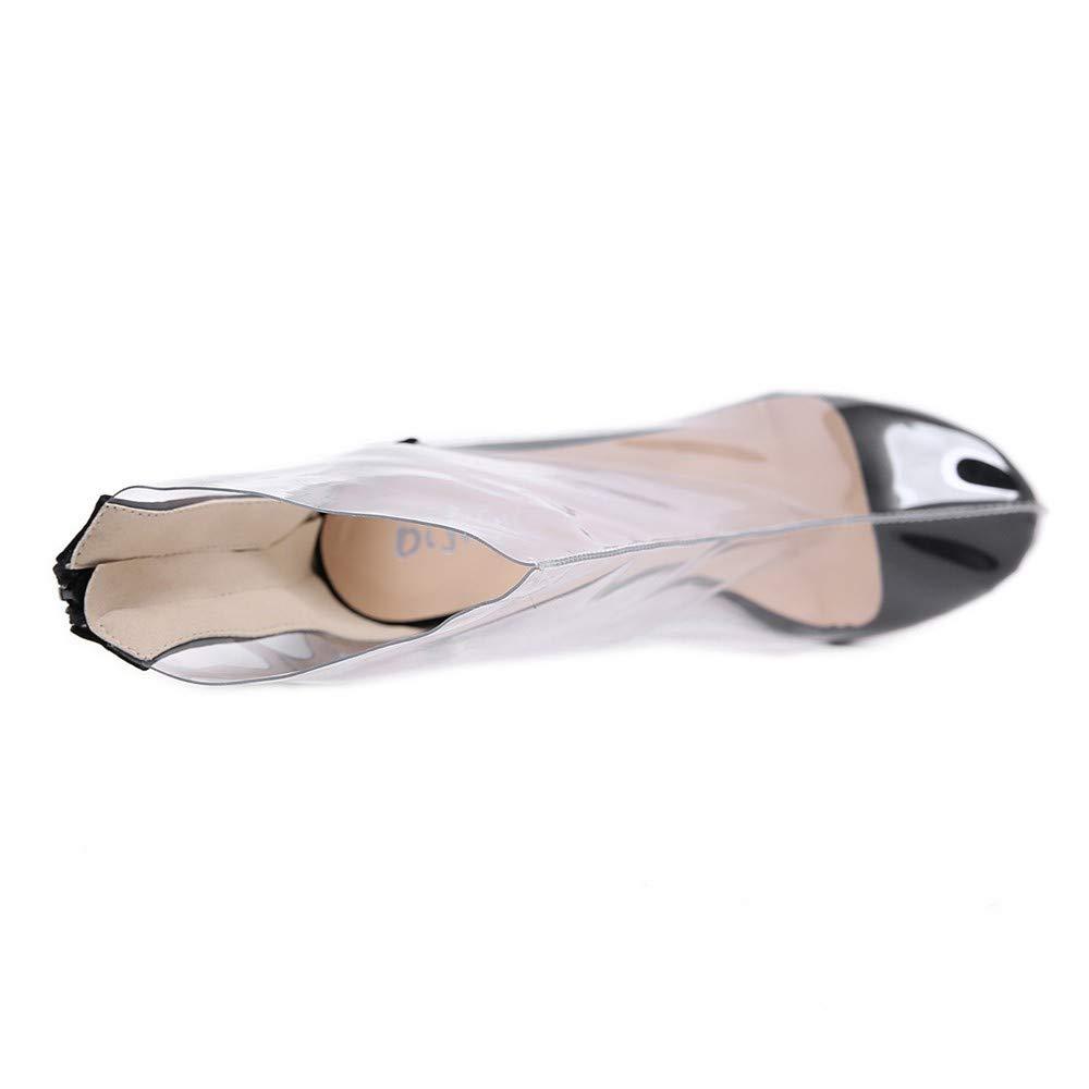 Scarpe col Tacco Stivali Europei di di di Bellezza Artificiale Moda Pu 12 Centimetri Stivali Sexy Trasparente Tacco Alto Spesso 904807