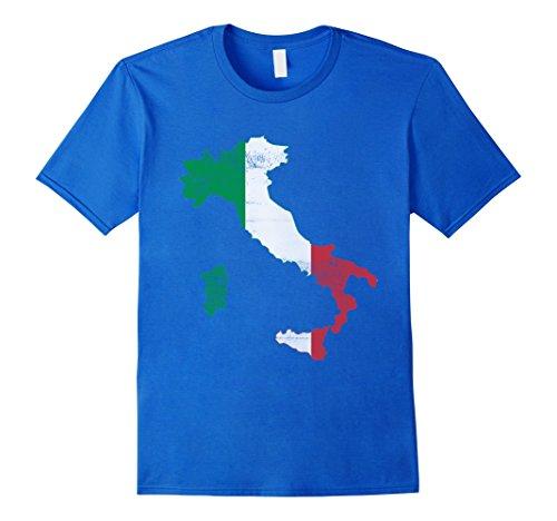 Men's Italy Pride Vintage Retro Style Italia Italian Flag T-shirt XL Royal Blue (Italian Style Vintage)