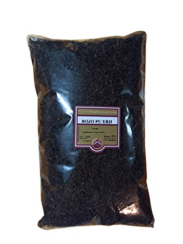 SABOREATE Y CAFE THE FLAVOUR SHOP Te Rojo Pu Erh Yunnan China en Hebra Hoja a Granel Natural Adelgazar 1 kg