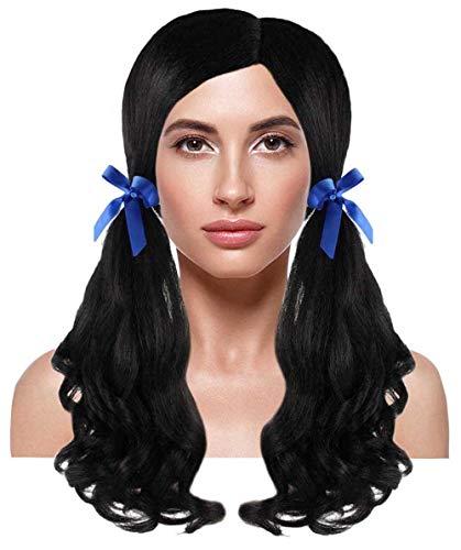 Halloween Party Online Farm Girl Wig, Black Kids HW-1996K -
