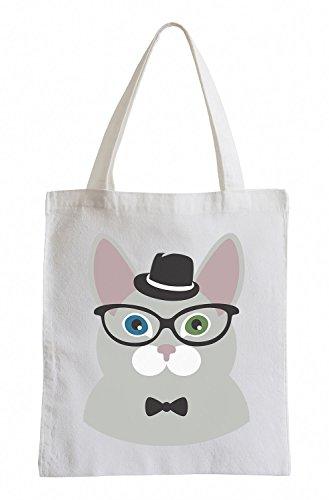 Hipster Raxxpurl Cat Mit Hut Fun Jutebeutel