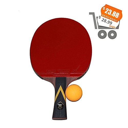 Carbon Table Tennis Racket,Advanced Ping Pong Paddle Set With 7-Ply Balde,Carbin glue and 2mm Sponge,Premium Table Tennis Racquet with Carry Bag Ball Protector for Personal Table Tennis Game