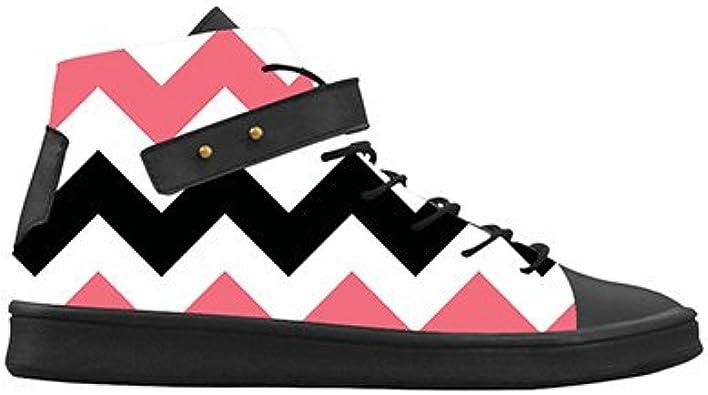 Daniel Turnai Fan Customized Chevron New Sneaker Canvas Round Toe Womens Shoes
