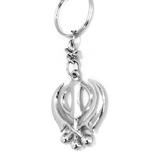 Brand New Sikh Khanda Key ring silver toned