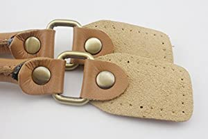 Asas de piel sintética y piel auténtica, asas para monedero, asa para bolsos, bolso, coser en bolsa, asa de reemplazo, un par (2 piezas) por lote Anti ...