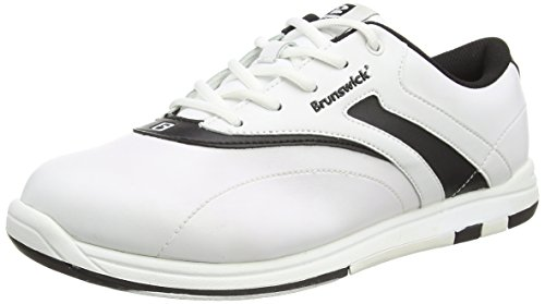 Brunswick Women's Silk Bowling Shoes (White/Black Wide, 8.5)