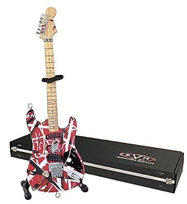 EVH Minature Guitars EVH001 Frankenstein Mini Replica Guitar Van Halen, Red & White by EVH Minature Guitars