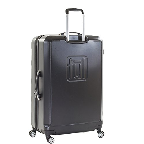ful Luggage Laguna 29in Spinner Rolling Luggage Suitcase, Upright Hard Case, Black by ful Luggage